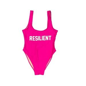 Private Party Resilient fuchsia pink one piece M L
